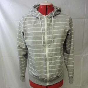 Chor Grey Striped Men's Hoodie Small